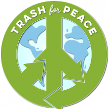 trash for peace logo