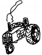 rural route tractor logo