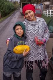 food waste mom and son