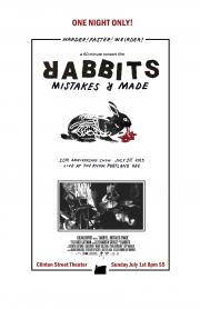RABBITS Mistakes R Made poster 11x17