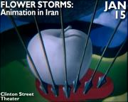 flowers storms animation in iran