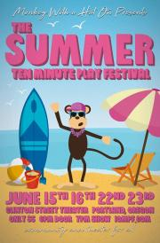 summer 10 minute play festival poster