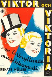 victor and victoria movie poster