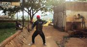 shake the dust, young man in Uganda practicing his moves